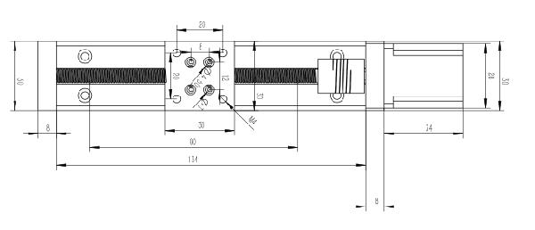 NEMA11 stepper motorized linear module