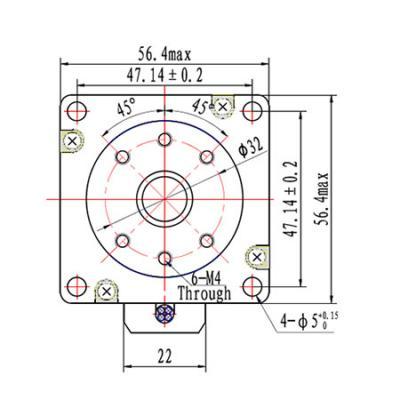 NEMA23 or NEMA34 hollow shaft stepper motor rotary index unit