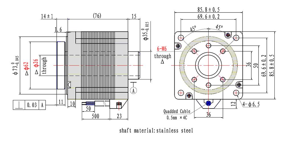 NEMA34 rotary table