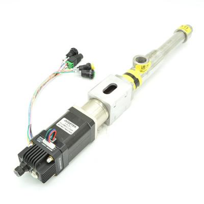 Stepper or servo motorized screw pump for metering and filling