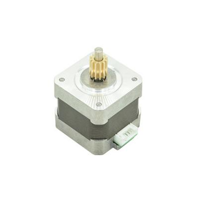 Stepper motor with press in drive gear