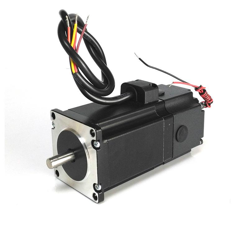 stepper motor with electromagnetic brake