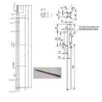 Precious Plastic design single screw and barrel for extrusion machine
