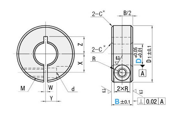 clamp type shaft collar