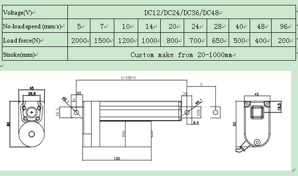 LX800 linear actuator