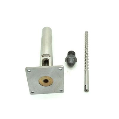 8 or 12 filament extruder screw barrel and nozzle