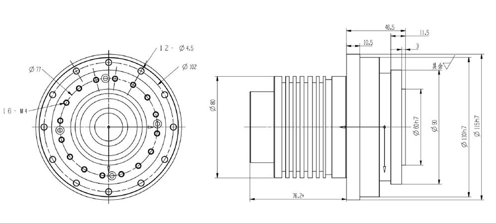 Harmonic Reducer BLDC Motor