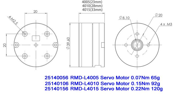 Hollow Shaft BLDC Servo Motor