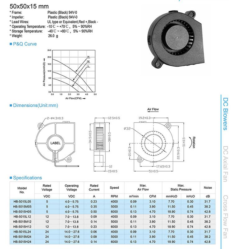 Blower Fan 5015