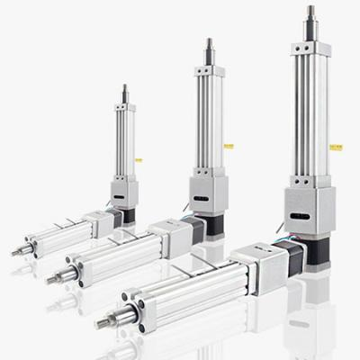 Stepper motorized linear actuator cylinder