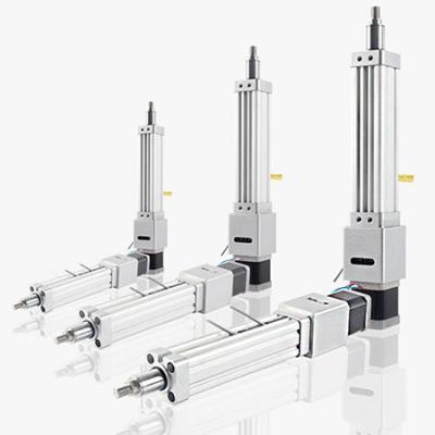 Stepper motorized linear actuator cylinder