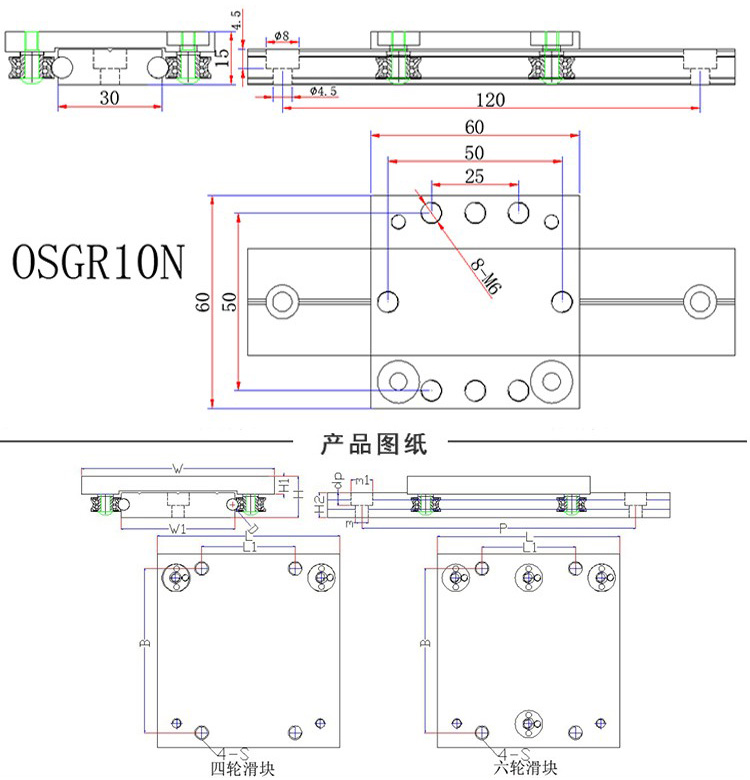 roller bearing linear guide