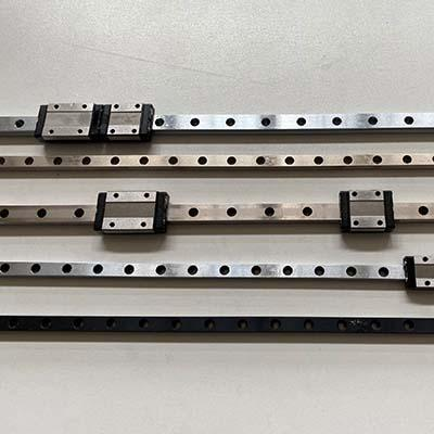 Chrome or nickel plated miniature linear rails