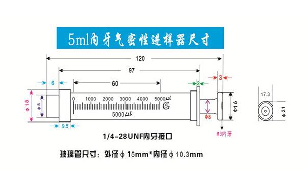 5ml gastight syringe