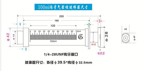 100ml gastight syringe