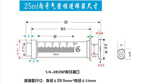25ml gastight syringe