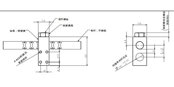 10mm reversing screw and block