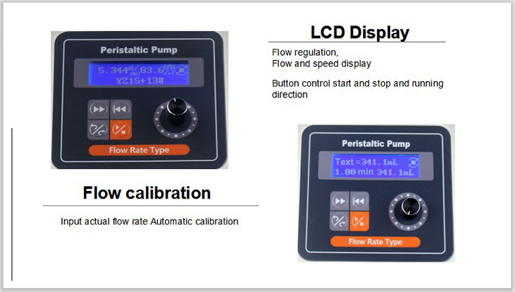 persitaltic pump lcd display