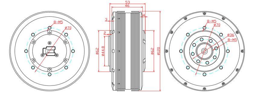 HT1225 Gimbal Motor Dimension
