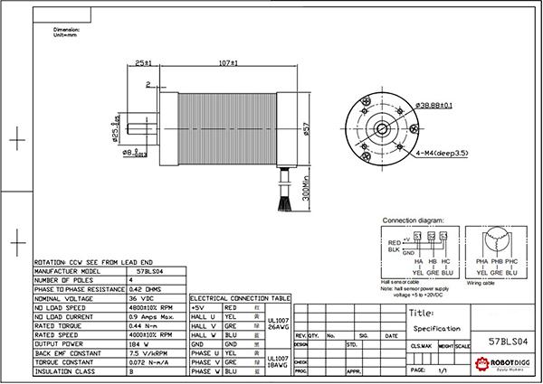 NEMA23 Brushless DC Motor
