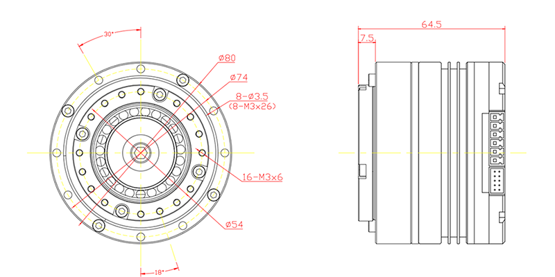 BLDC Servo Motor with Harmonic Reducer