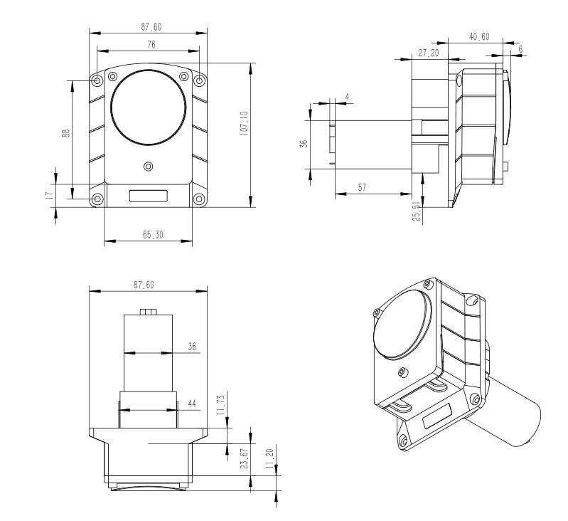stepper motor peristaltic pump