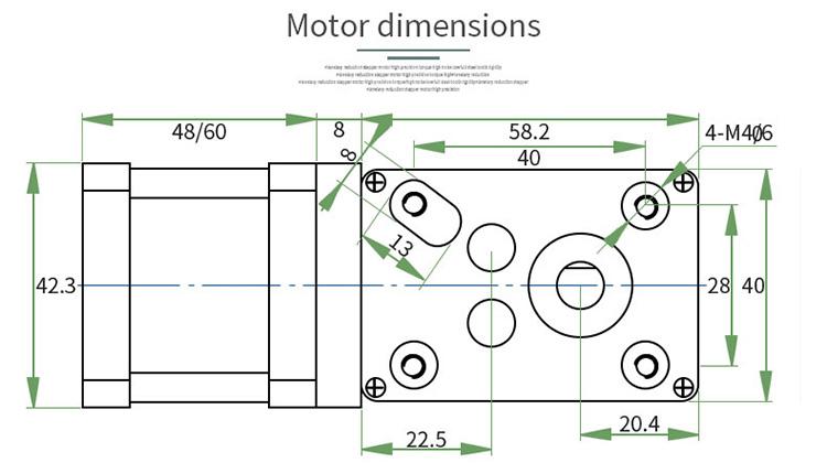 NEMA17 worm gear stepper motor