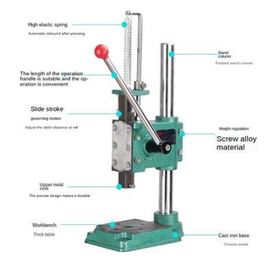 JM-16 Manual Press beer capper, punching and diamond cutting press